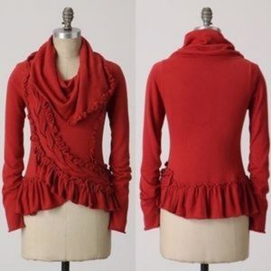 ANTHROPOLOGIE Guinevere Sweeping Frills Sweater M
